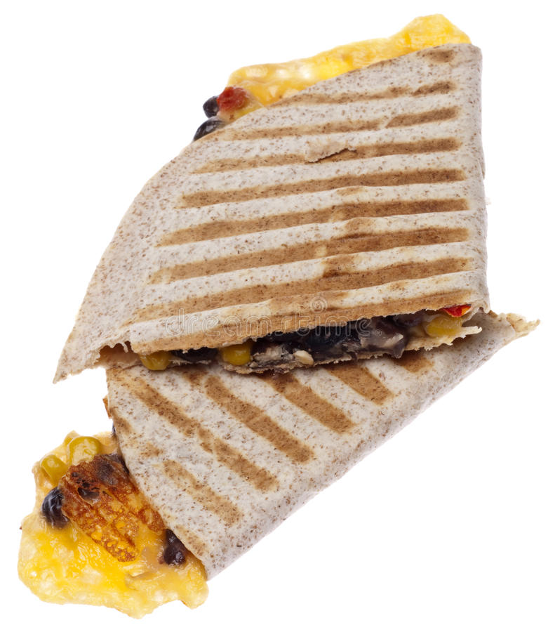 Download Extra Cheesy Quesadilla stock image. Image of grilled - 15726397