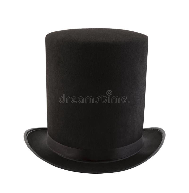 Extra högväxt bästa hatt som isoleras på vit bakgrund arkivbild