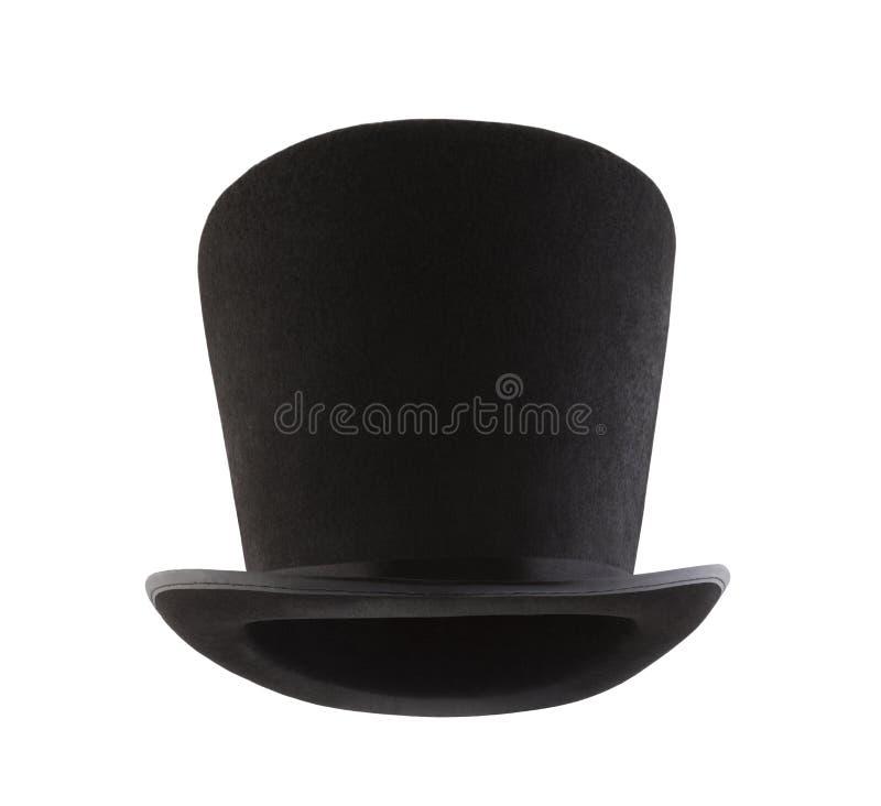 Extra högväxt bästa hatt som isoleras på vit bakgrund arkivbilder