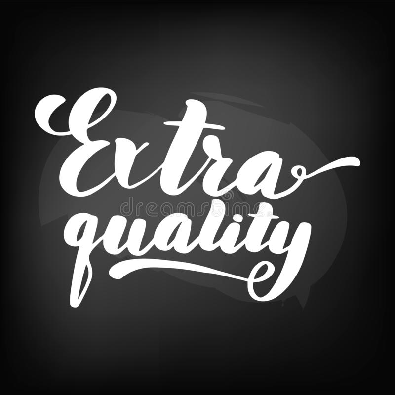 Extra kwaliteit Bordbord het van letters voorzien, vector illustratie