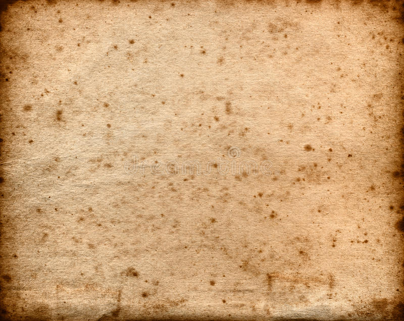 extra large old paper background with foxing stock