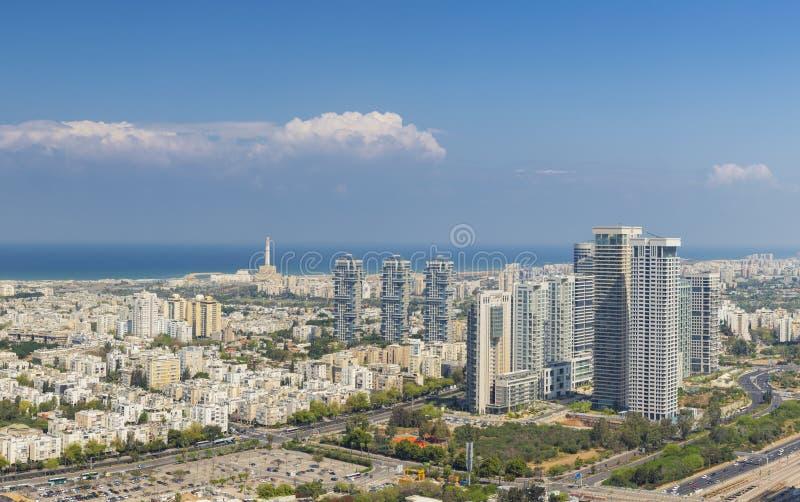 Panorama Of Tel Aviv Skyline, Tel Aviv Cityscape Large Panorama At Day, Israel stock images