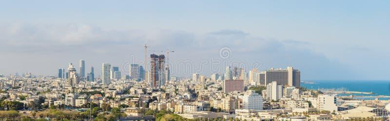 Large Panorama Of Tel Aviv Skyline, Tel Aviv Cityscape Large Panorama At Day, Israel stock photo