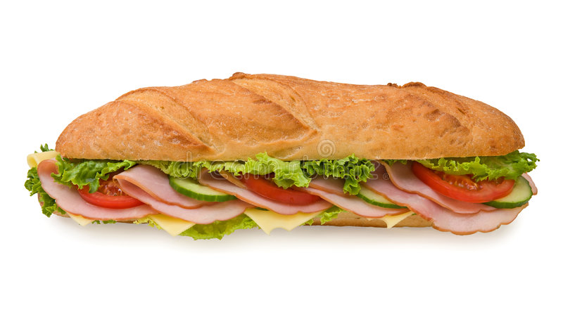 Download Extra Large Submarine Sandwich With Ham And Cheese Stock Image - Image: 5132705
