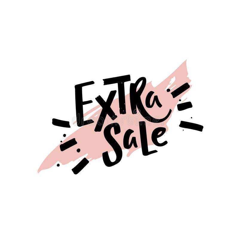 Extra Sale Retail Promotion Phrase. Vector Handwritten Graphic Modern Illustration. vector illustration