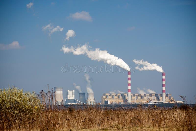 Extracção de carvão de superfície fotografia de stock