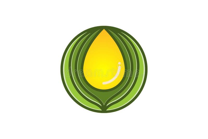 Extract oil, olive logo Designs Inspiration Isolated on White Background. Extract oil, olive logo Designs Inspiration Isolated on White Background stock illustration