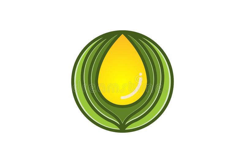 Extract oil, olive logo Designs Inspiration Isolated on White Background. Extract oil, olive logo Designs Inspiration Isolated on White Background royalty free illustration