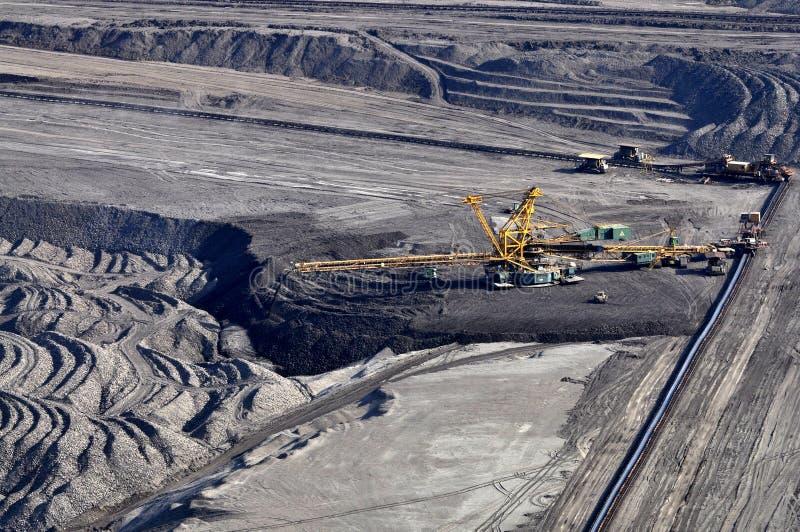 Extraction à ciel ouvert de lignite image stock