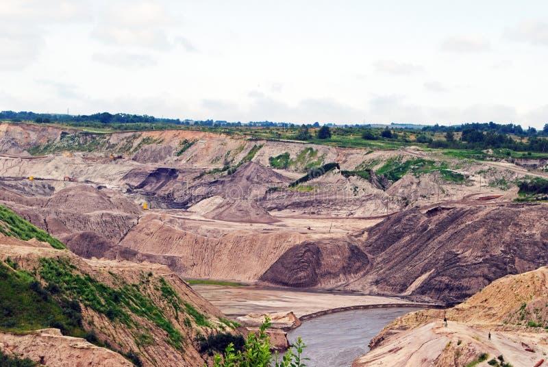 Extraction of amber in the Kaliningrad region. Amber quarries in the Kaliningrad region stock images