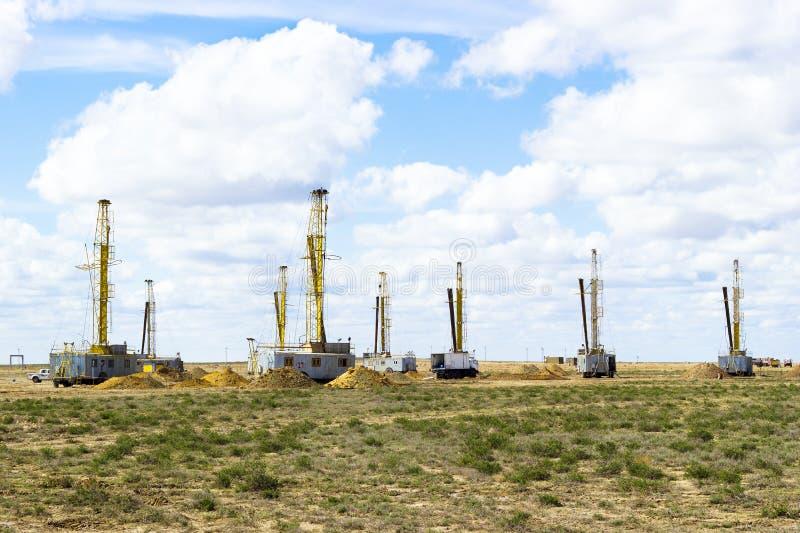 Extraction en uranium. Industrie de l'uranium. Constructions et mechanis images libres de droits