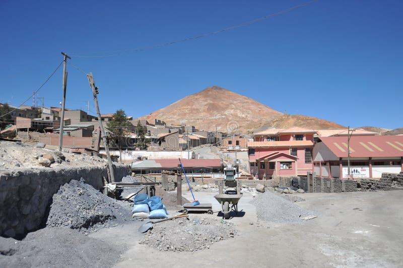 Extraction - installation d'enrichissement dans Potosi photographie stock libre de droits