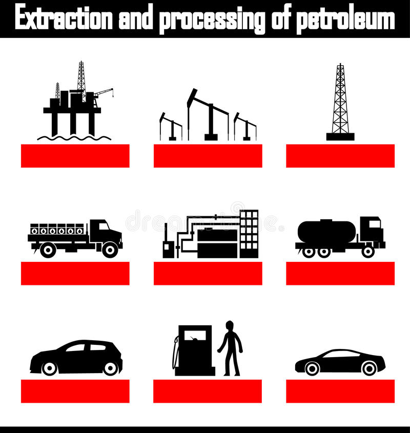 Download Extraction And Processing Of Petroleum Vector Stock Vector - Illustration: 33453811