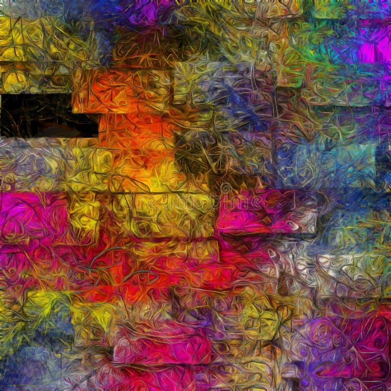 Extracto acodado dimensional de colores que remolinan libre illustration