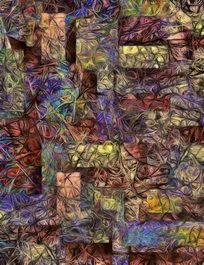 Extracto acodado dimensional de colores que remolinan stock de ilustración