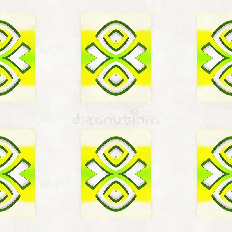 Extracto amarillo del modelo geométrico foto de archivo