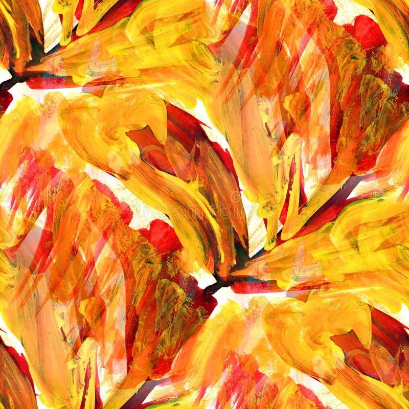 Extracto anaranjado de la imagen de la textura inconsútil de África ilustración del vector
