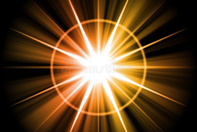 Extracto anaranjado del resplandor solar de la estrella stock de ilustración