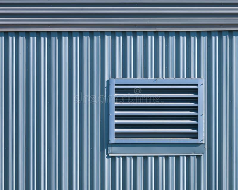 Extracto arquitectónico geométrico de la pared del metal imágenes de archivo libres de regalías