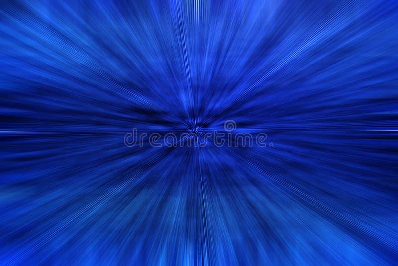 Extracto azul con efecto del zoom stock de ilustración