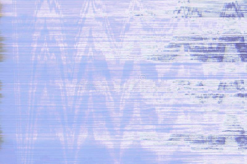 Extracto azul del ruido del vhs de la interferencia, grunge imágenes de archivo libres de regalías