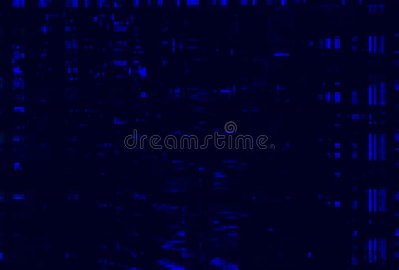 Extracto azul del ruido del vhs de la interferencia, grunge de la tecnología ilustración del vector
