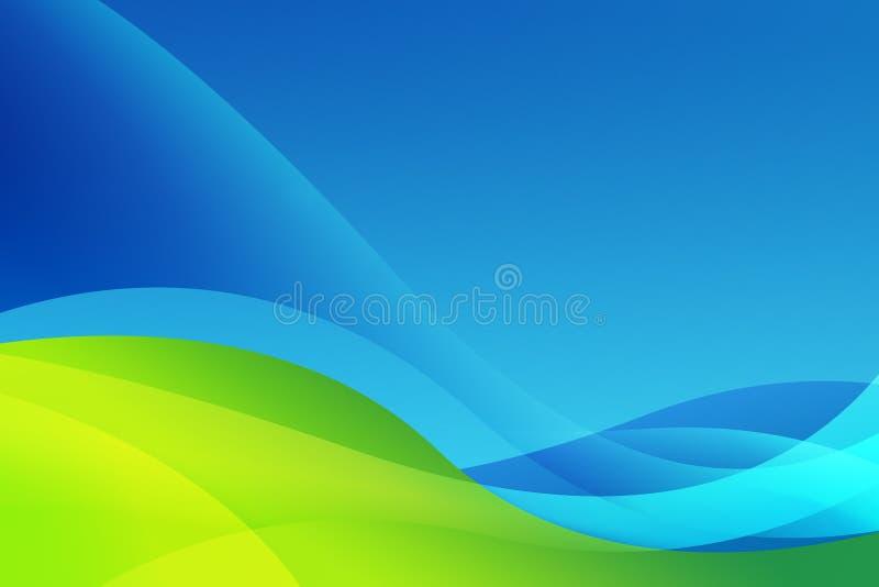Extracto azul y verde ilustración del vector
