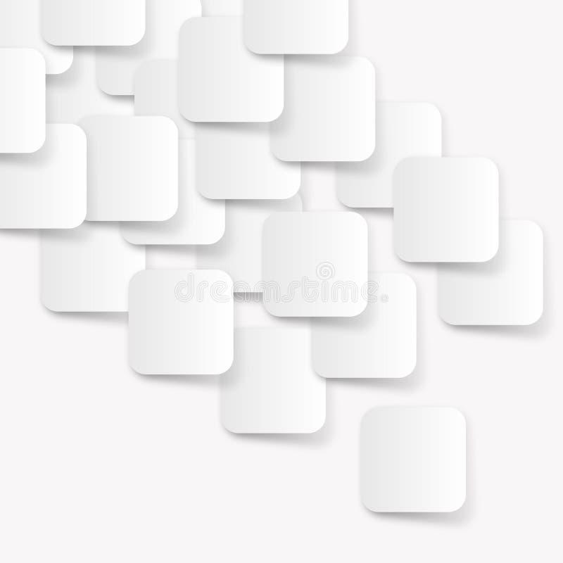Extracto blanco del rectángulo stock de ilustración