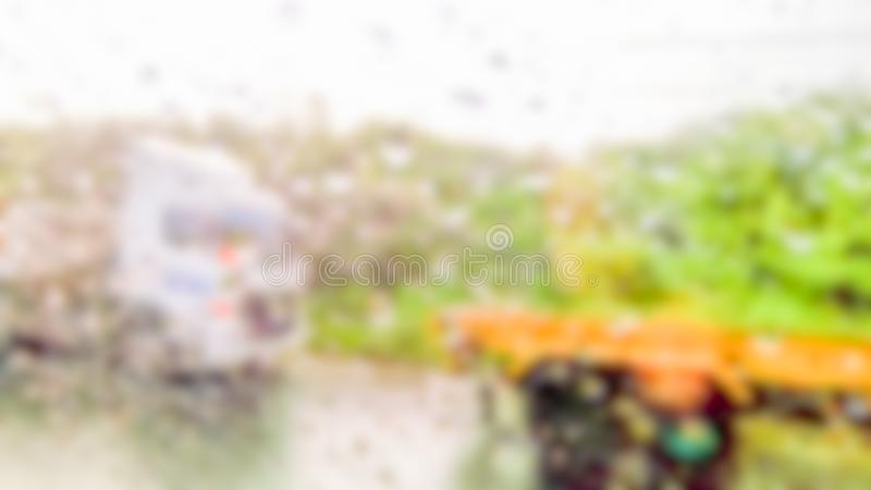 Extracto borroso de temporales de lluvia foto de archivo libre de regalías