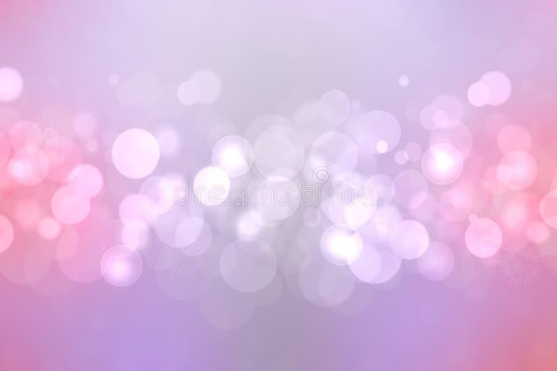 Extracto brillante rosado festivo Bokeh, fondo coloreado defocused y en colores pastel de la pendiente colorida Textura hermosa foto de archivo libre de regalías