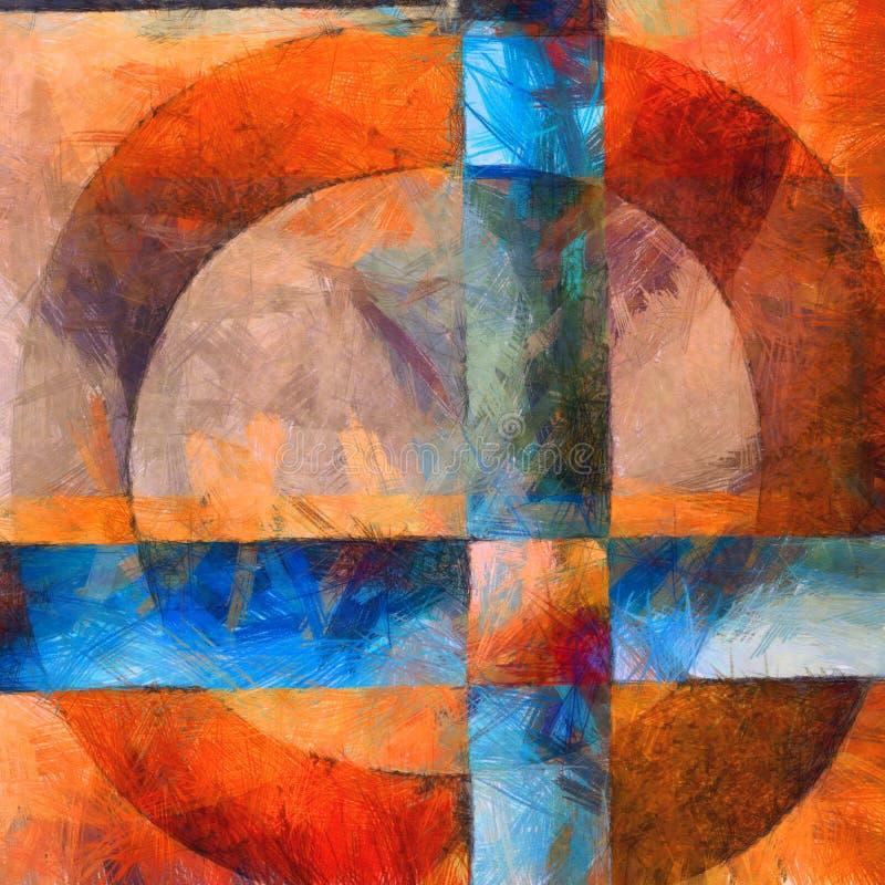 Extracto colorido con los círculos y las cruces ilustración del vector