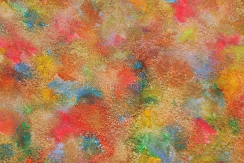 Extracto colorido de la acuarela o fondo natural de la textura de la pintura del vintage foto de archivo libre de regalías