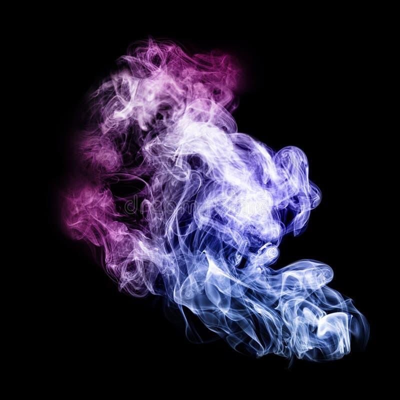 Extracto colorido del humo foto de archivo libre de regalías