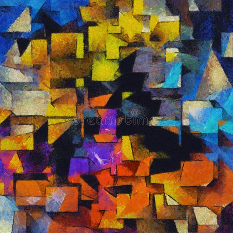 Extracto colorido Painterly stock de ilustración