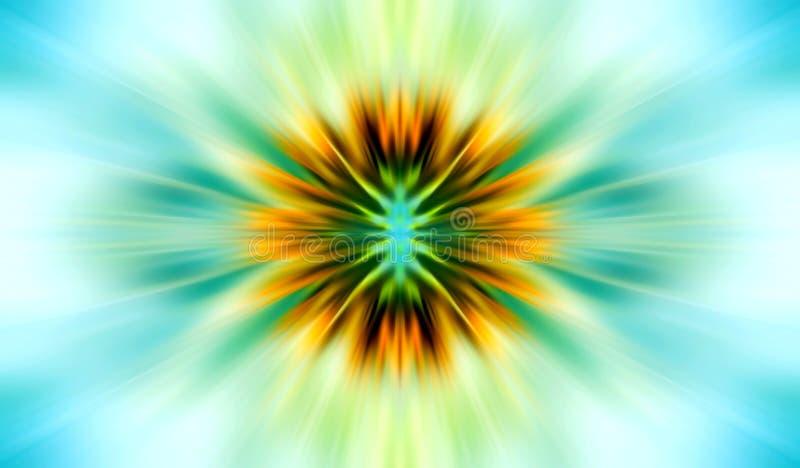 Extracto conceptual del sol ilustración del vector