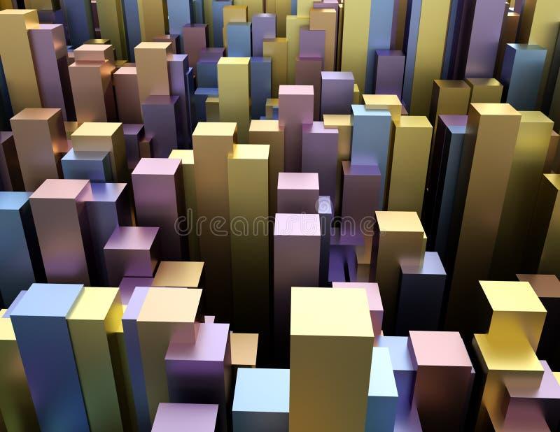 Extracto 3d colorido creativo rendir el fondo geométrico ilustración del vector