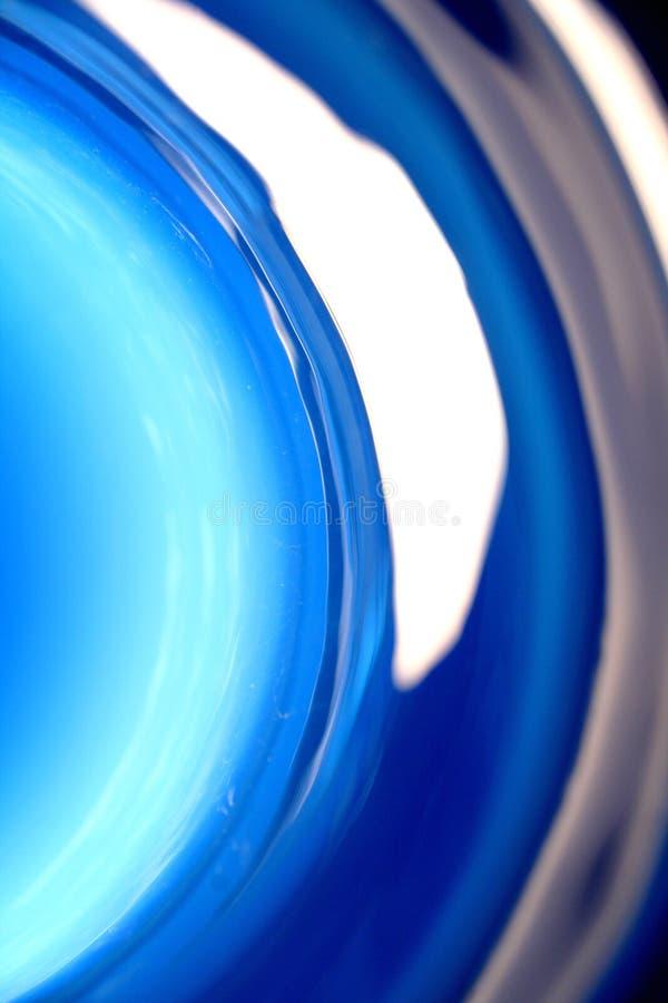 Extracto de cristal azul imagen de archivo