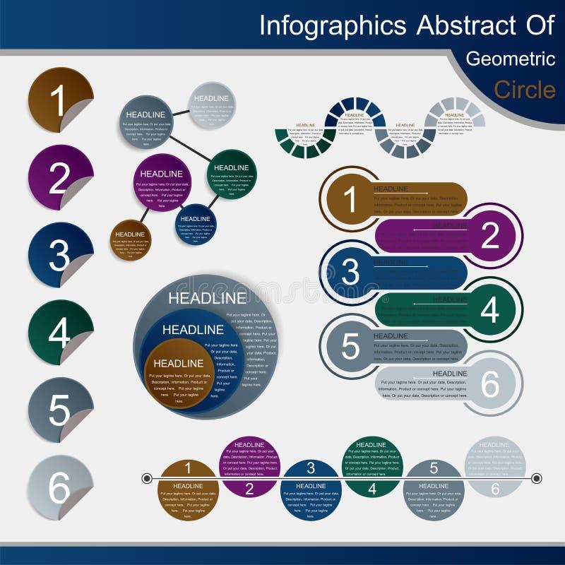 Extracto de Infographics del círculo geométrico - vector ilustración del vector