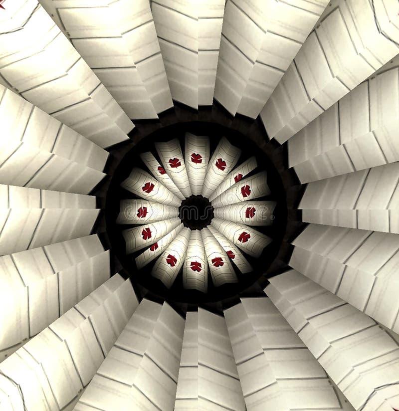 Extracto de Kalaidoscope en sombras de blanco y de negro stock de ilustración