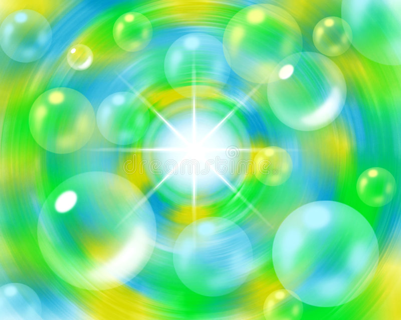 Extracto de la burbuja ilustración del vector