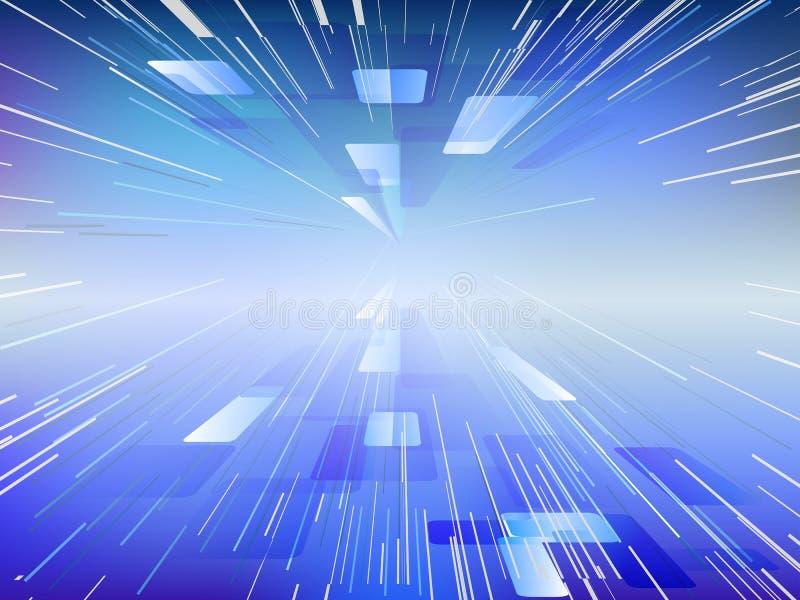 Extracto de la deformación digital o del movimiento hyperspace libre illustration