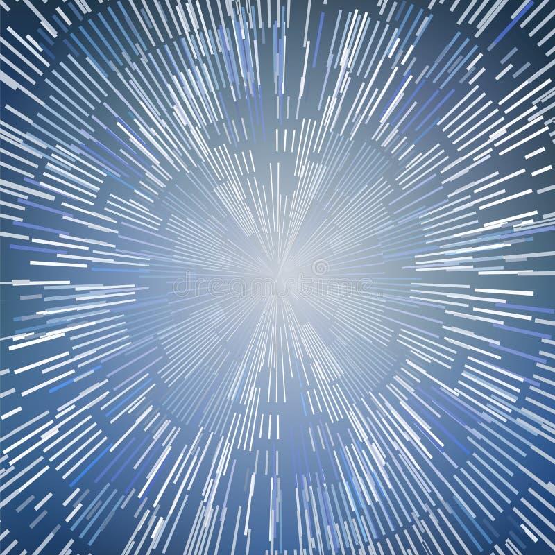 Extracto de la deformación o del movimiento hyperspace ilustración del vector