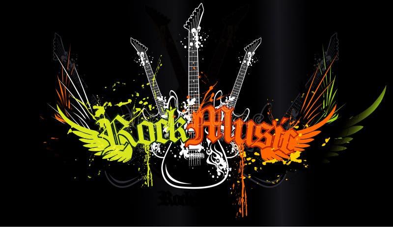 Extracto de la guitarra ilustración del vector