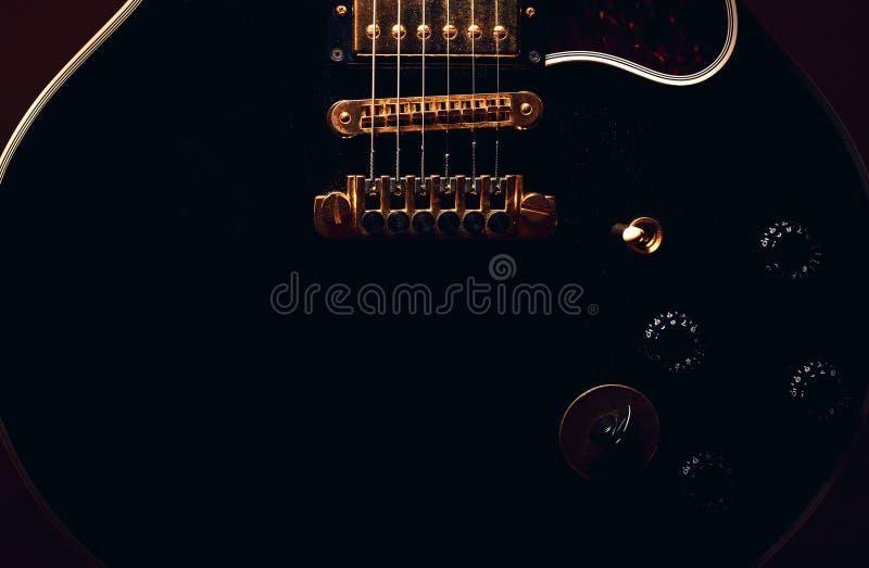 Extracto de la guitarra eléctrica foto de archivo