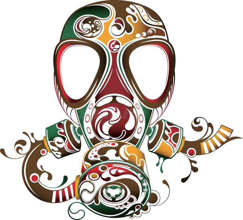Extracto de la máscara ilustración del vector
