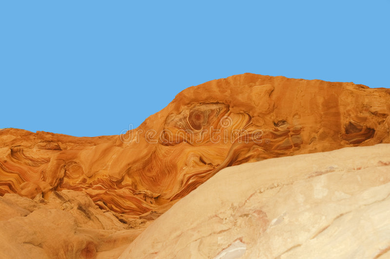 Extracto de la naturaleza: Barranca coloreada fotografía de archivo libre de regalías