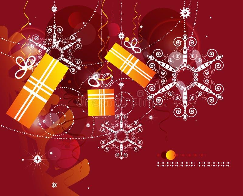 Extracto de la Navidad ilustración del vector
