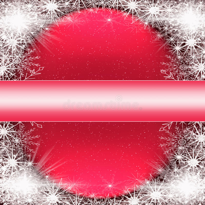 Extracto de la Navidad con los copos de nieve ilustración del vector