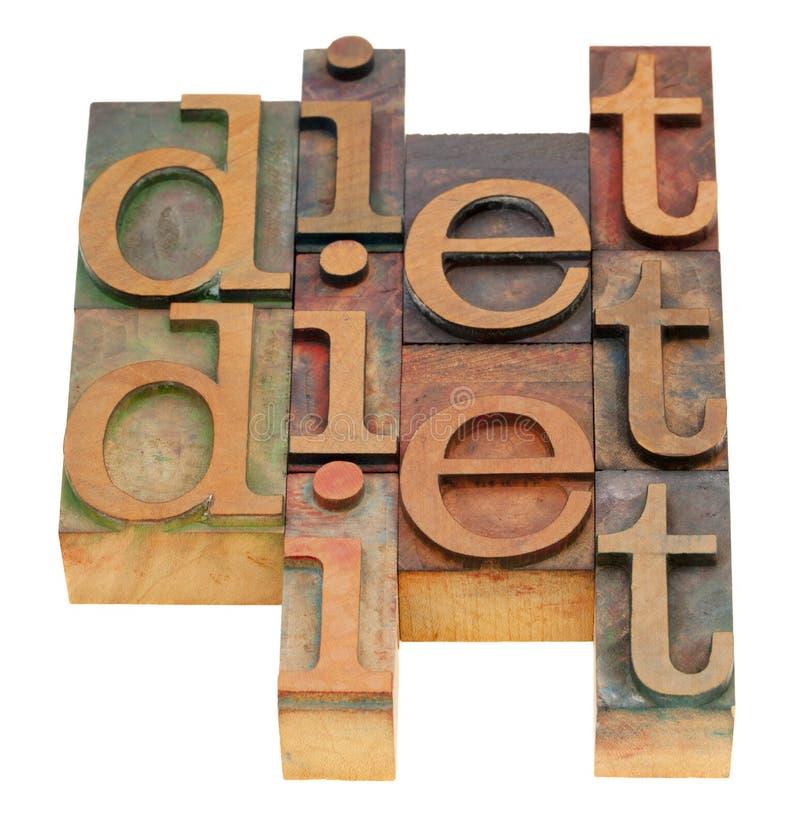 Extracto de la palabra de la dieta fotos de archivo libres de regalías