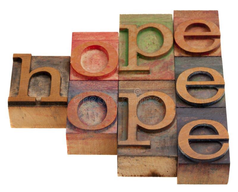 Extracto de la palabra de la esperanza fotografía de archivo libre de regalías